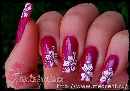 Цветы на ногтях: 30 фотографий для начинающих 12