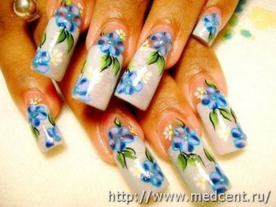 Цветы на ногтях: 30 фотографий для начинающих 14