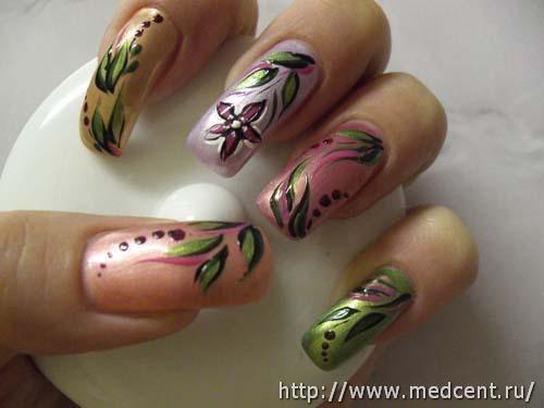 Цветы на ногтях: 30 фотографий для начинающих 19