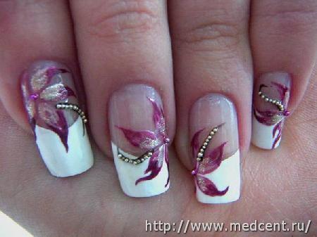Цветы на ногтях: 30 фотографий для начинающих 2