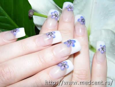 Цветы на ногтях: 30 фотографий для начинающих 26