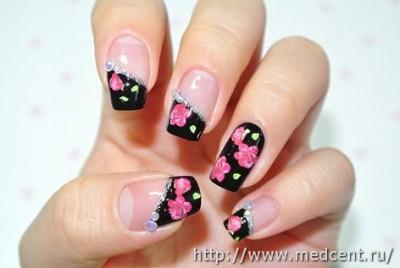 Цветы на ногтях: 30 фотографий для начинающих 27