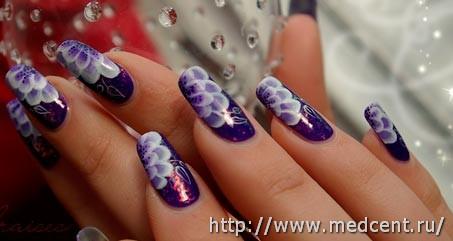 Цветы на ногтях: 30 фотографий для начинающих 7