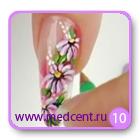 Цветы на ногтях: белая ромашка. Шаг №10