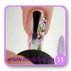 Цветы на ногтях: белая ромашка. Шаг №11
