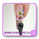 Цветы на ногтях: белая ромашка. Шаг №12