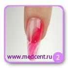 Цветы на ногтях: белая ромашка. Шаг №2