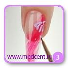 Цветы на ногтях: белая ромашка. Шаг №3