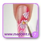Цветы на ногтях: белая ромашка. Шаг №7