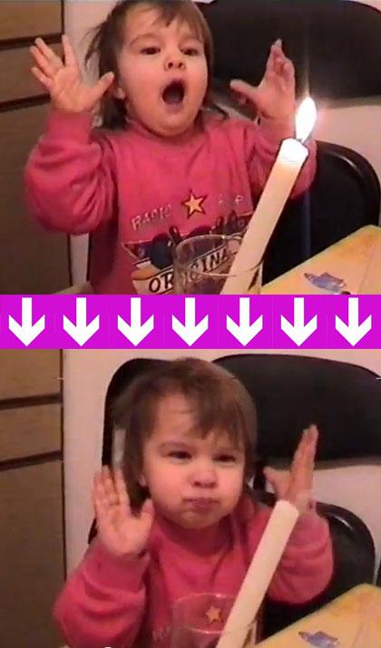 Девочка задувает свечи силой мысли: как это было