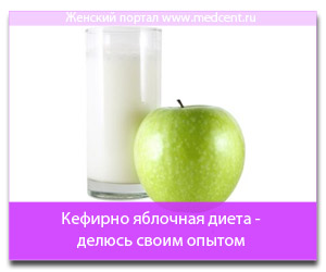 Кефирно яблочная диета - делюсь своим опытом