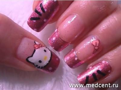 Кошки на ногтях: фото №1