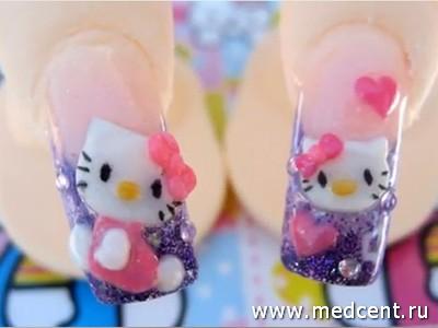 Кошки на ногтях: фото №5