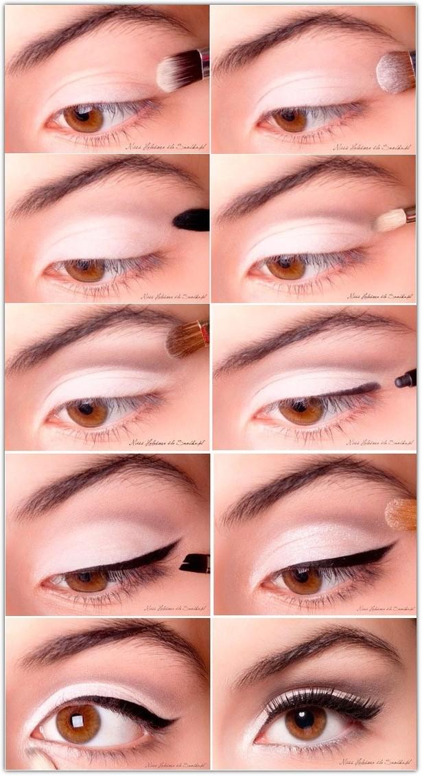 Макияж для карих глаз брюнеток: фото №1