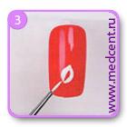 Рисунки на ногтях пошагово: мой первый урок, шаг №3