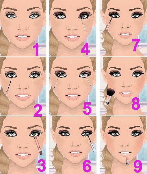 Простой макияж: фото с описанием