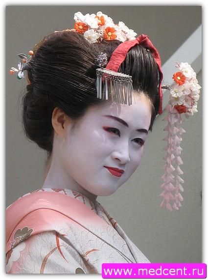 Японский макияж. Фото №4