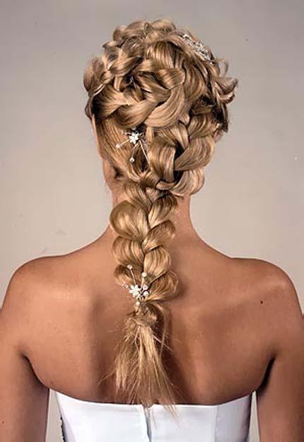 красивые свадебные прически с плетением на длинные волосы фото