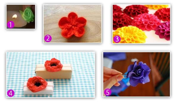 Цветы Из Материала Своими Руками Пошаговая Инструкция