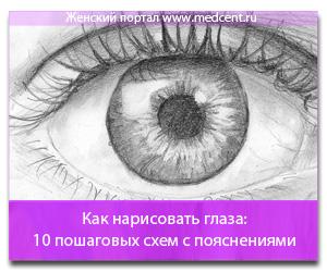 Как нарисовать глаза: 10 пошаговых схем с пояснениями