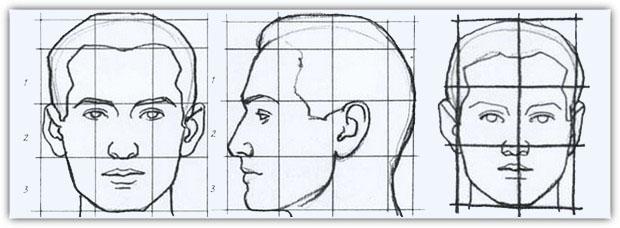 Как нарисовать портрет карандашом: пример №1