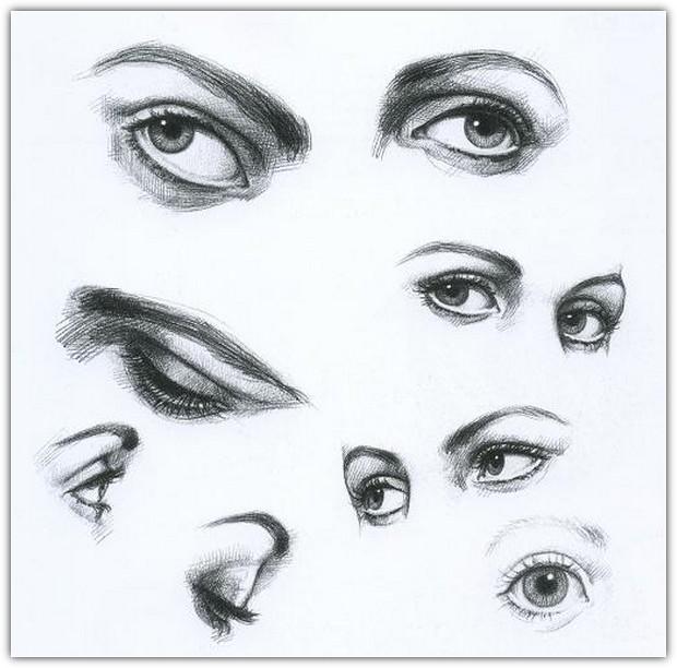 Рисуем лицо девушки карандашом