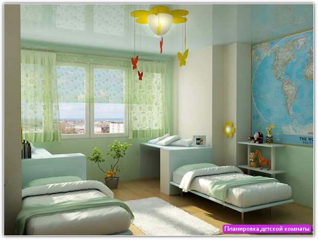 Планировка детской комнаты: пример №1