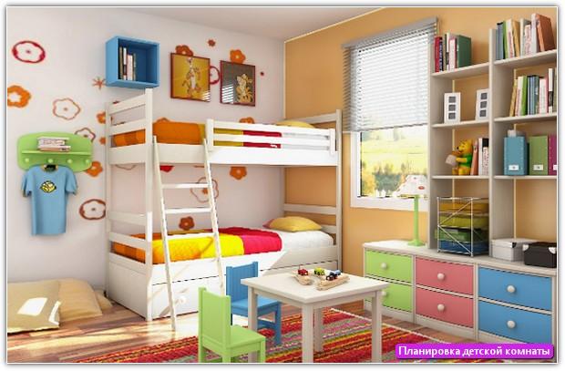 Планировка детской комнаты: пример №3