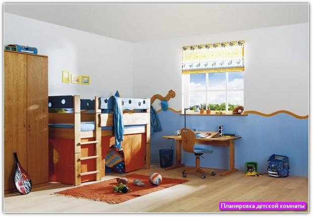 Планировка детской комнаты: пример №5