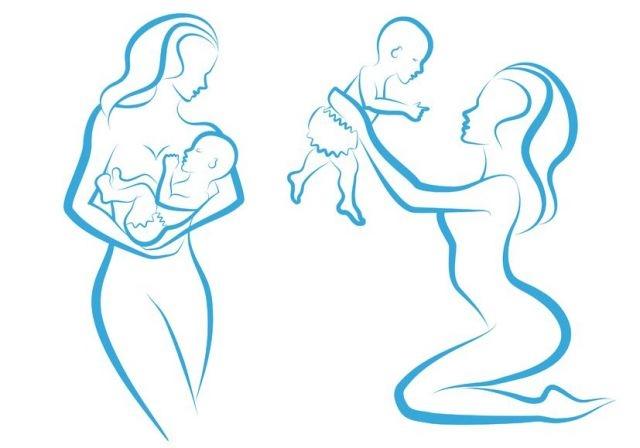 Как нарисовать беременную девушку с ребёнком 16