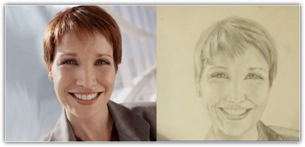 Пример Дмитрия Федорова, как нарисовать портрет карандашом