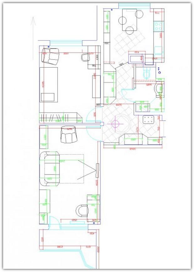 Схемы расстановки мебели. Схема №6