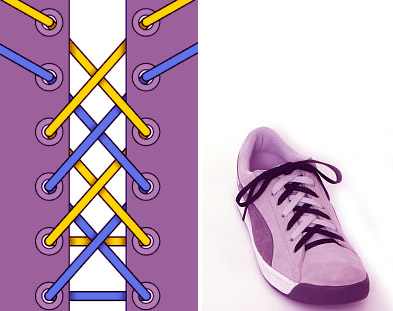 Разноцветная шнуровка