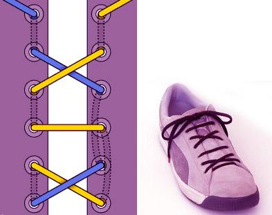 Римская шнуровка с чередованием