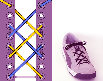 Шнуровка решеткой