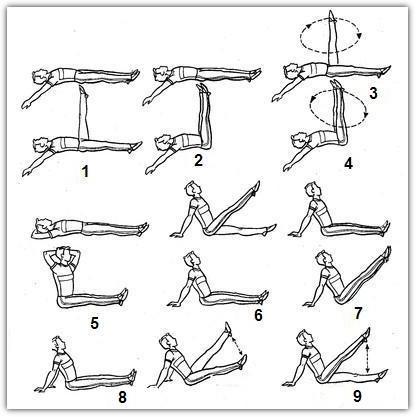 Упражнения для похудения ног: схема №2