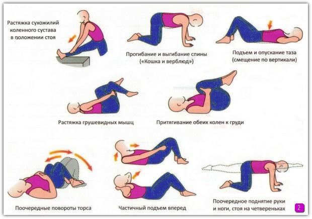Схема по укреплению мышц поясницы