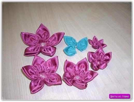 цветы из материала своими руками пошаговая инструкция - фото 9
