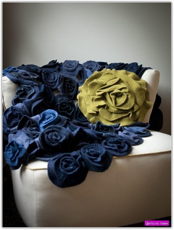 Цветы из ткани своими руками: пример №10
