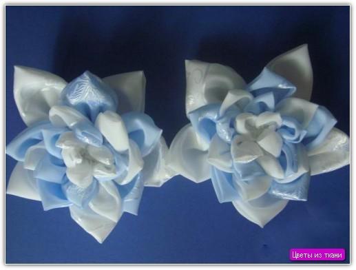 Цветы из ткани своими руками: пример №2