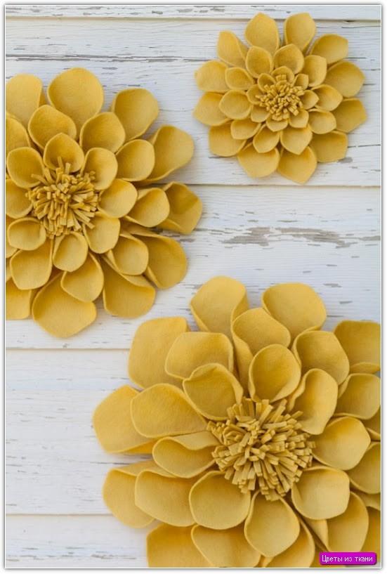 Цветы из ткани своими