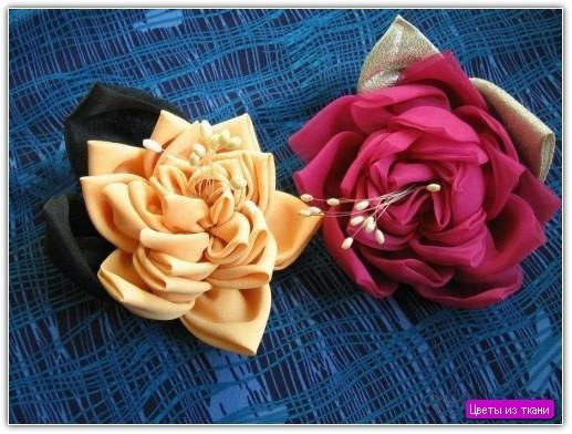 Цветы из ткани своими руками: пример №5