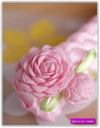 Цветы из ткани своими руками: пример №6