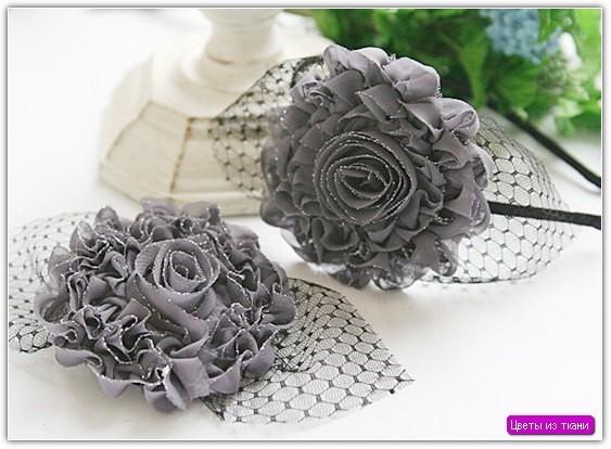 Цветы из ткани своими руками: пример №7