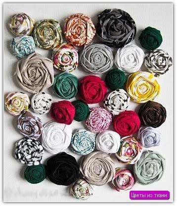 Цветы из ткани своими руками: пример №8