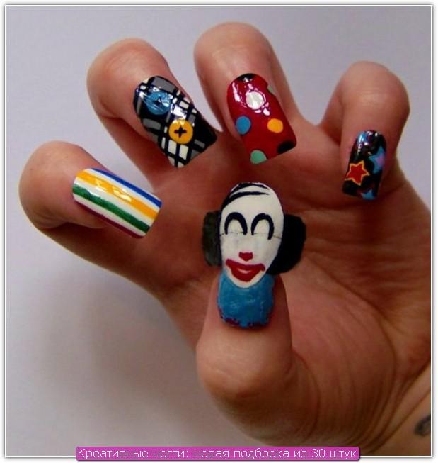 Креативные ногти: пример №14