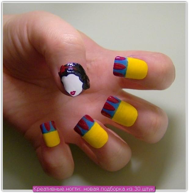Креативные ногти: пример №30