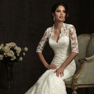Ажурные свадебные платья с кружевными
