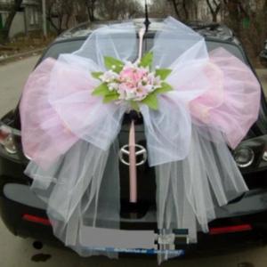 Как сделать бант из органзы на свадебную машину своими руками фото 292